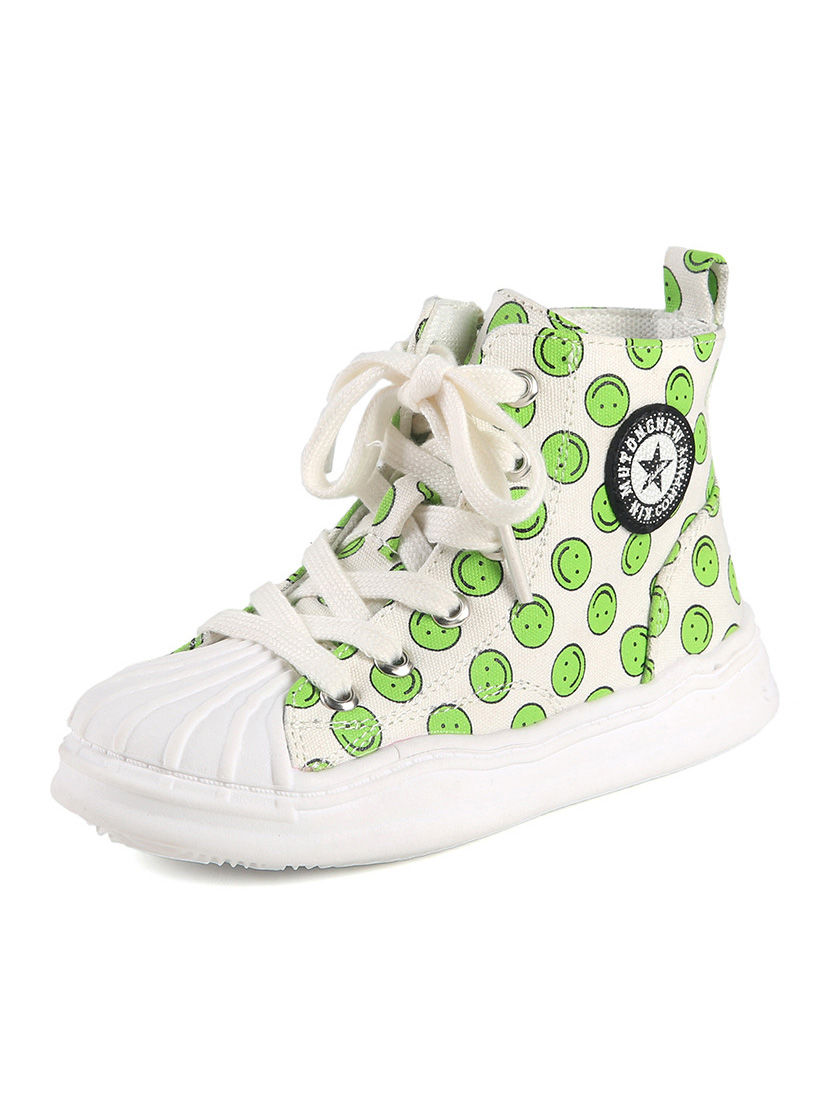 Smile Print Kid Girl Canvas Shoes