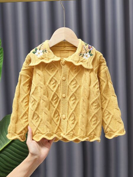 5-pack Embroidered Flower Knit Cardigan For Kid Girls  Wholesale 2