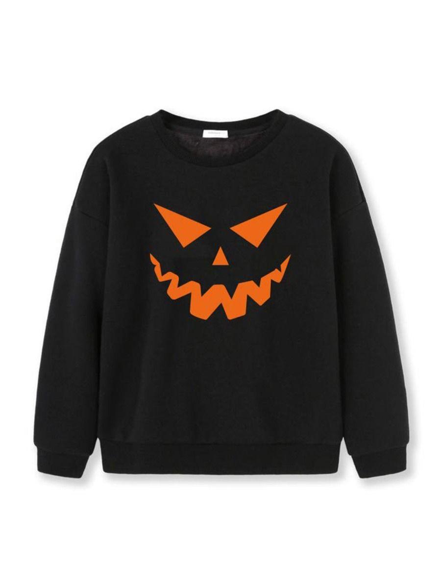 Halloween Pumpkin Sweatshirt For Kid  Wholesale BOYS 2021-08-23