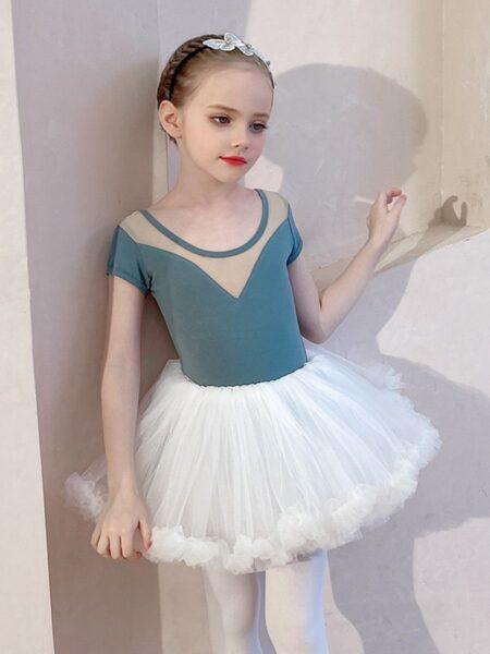 Kid Girl Ballet Bodysuit With Dress  Wholesale 2