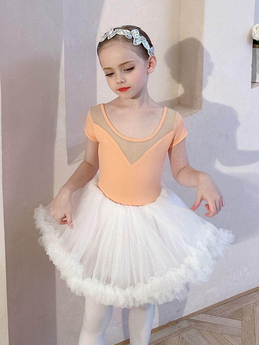 Kid Girl Ballet Bodysuit With Dress  Wholesale