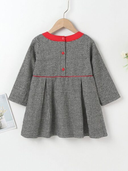 Houndstooth Pattern Dress Wholesale Girls Fashion Clothes  Wholesale 2
