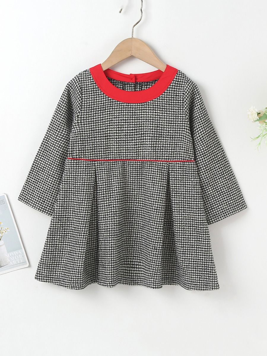 Houndstooth Pattern Dress Wholesale Girls Fashion Clothes  Wholesale