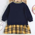 FOREVER 78 Letters Printed Checked V Neck Dresses Wholesale Little Girl Clothing  Wholesale 3