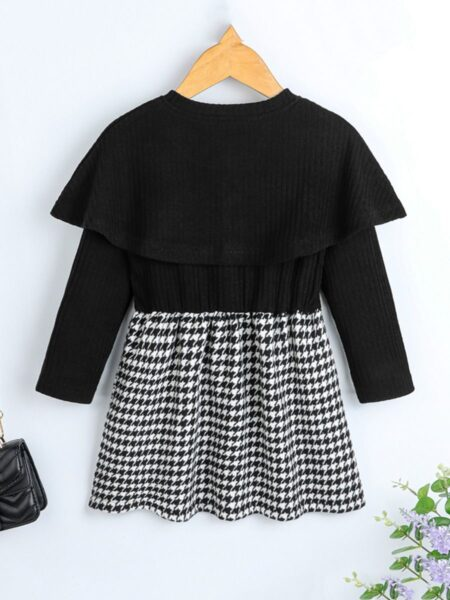 Houndstooth Print Little Girls Dresses Wholesale Girls Clothes  Wholesale 2