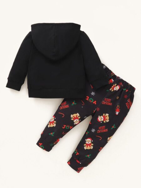 MERRY CHRISTMAS Printed Baby Outfits Hoodie With Pants  Wholesale 2