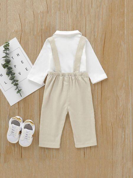 Bowtie Hit Color Bodysuit With Suspender Trousers Baby Boys Sets  Wholesale BABIES 2021-08-31