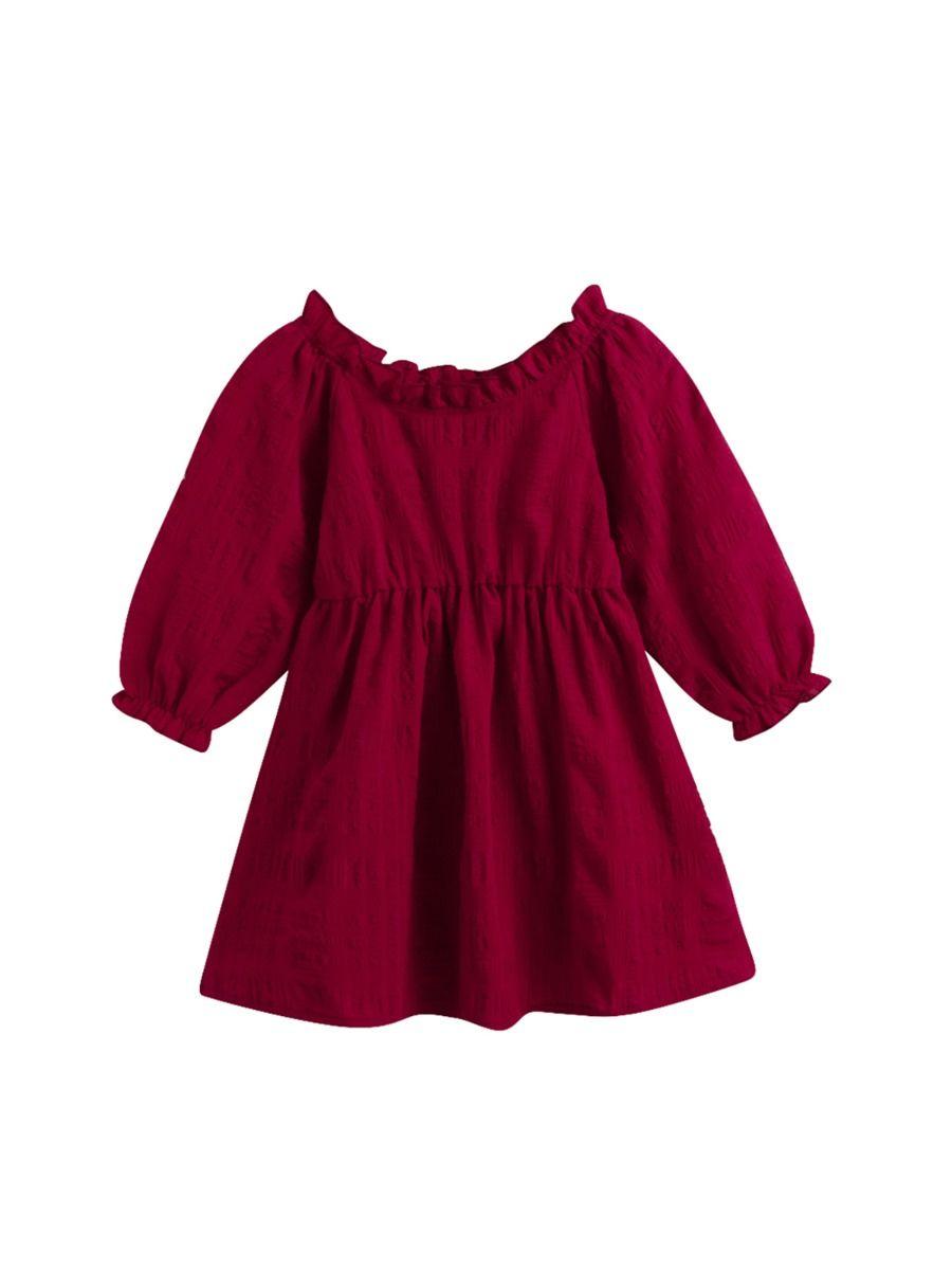 Half Button Doll Collar White Dress Wholesale Girls Clothes  Wholesale DRESSES 2021-08-27
