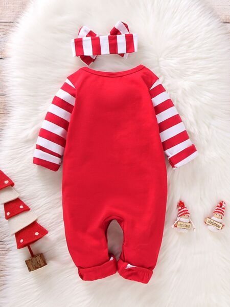 My 1st Christmas Baby Jumpsuit With Headband Wholesale Baby Clothes  Wholesale 2