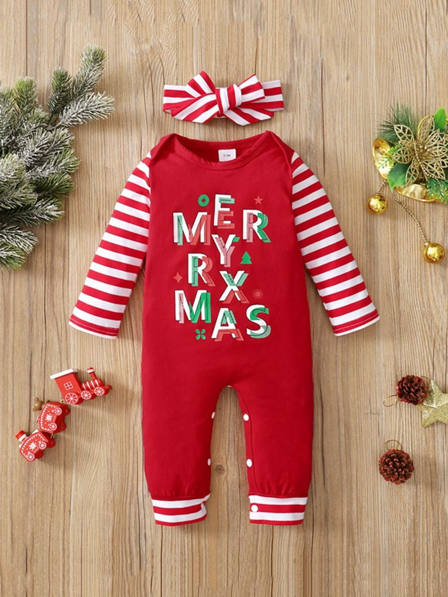 Merry Xmas Baby Jumpsuit Wholesale Baby Clothes  Wholesale
