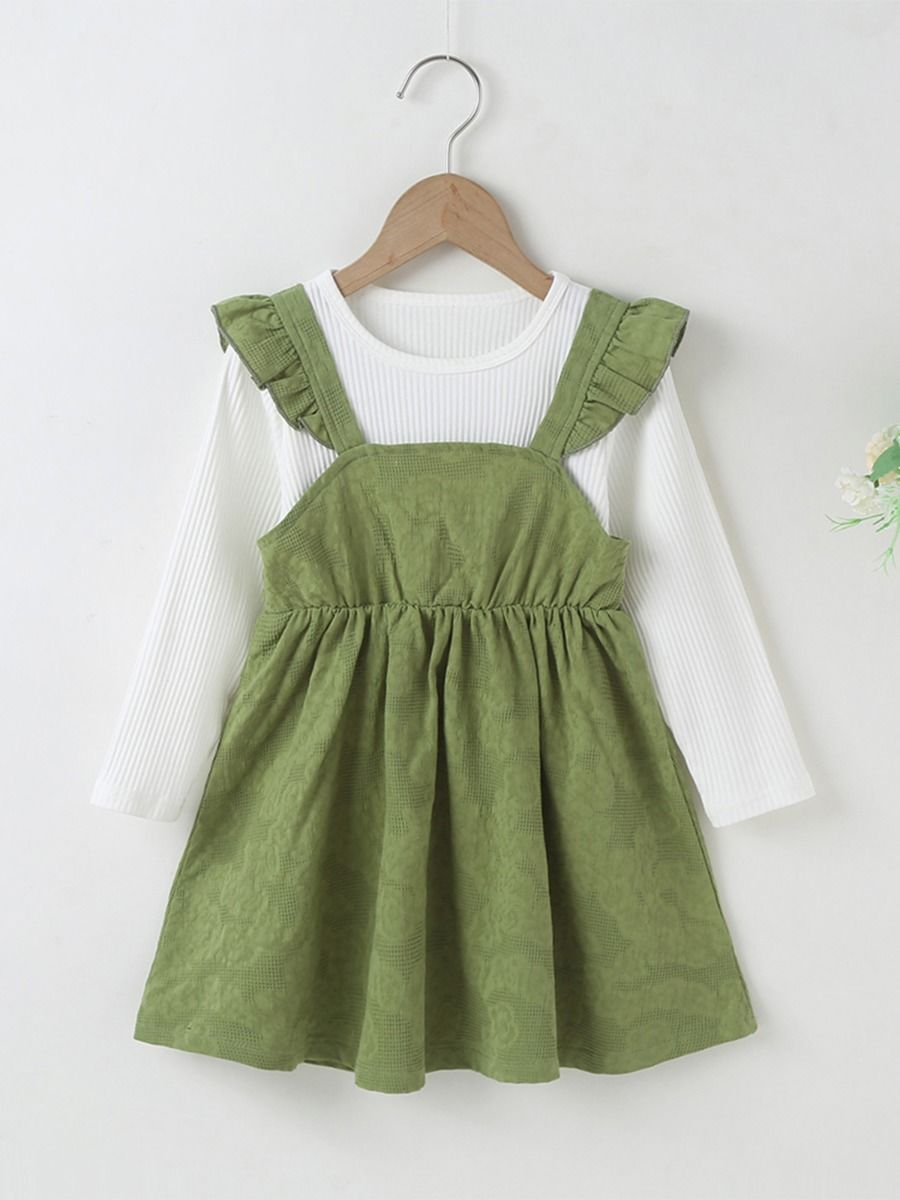 Flutter Sleeve Muslin Online Baby Girl Dress In Pink  Wholesale BABIES 2021-09-01