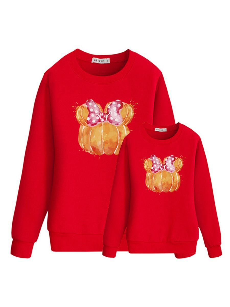 Halloween Pumpkin Bow Mommy And Me Top Wholesale Family Matching 2021-08-31