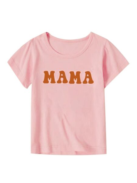 MAMA & BABE Printed Mommy And Me T-shirt FAMILY MATCHING 2021-09-01