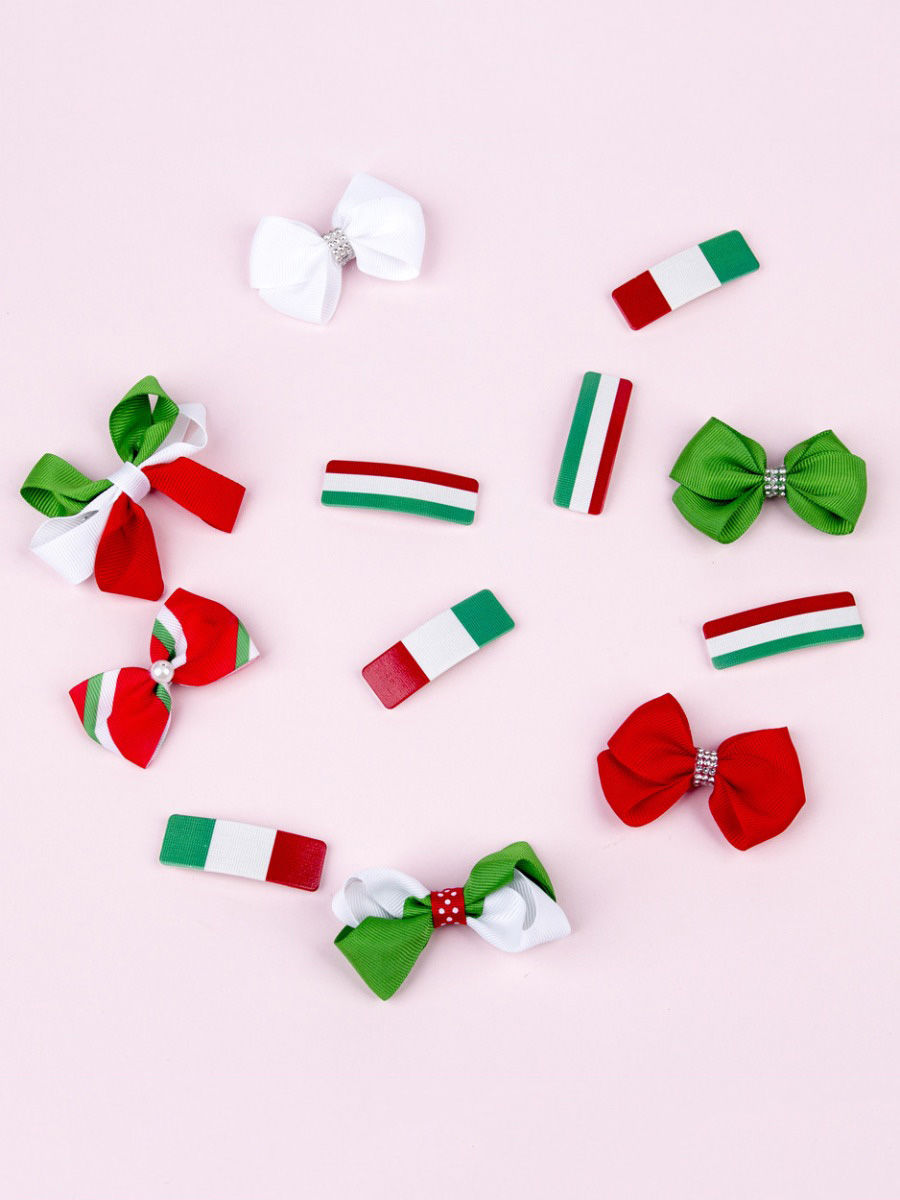 3 Pack Baby Christmas Hairpin Set