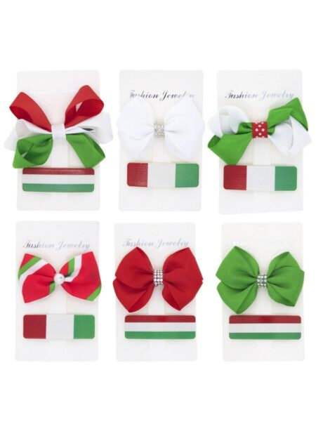 3 Pack Baby Christmas Hairpin Set 2
