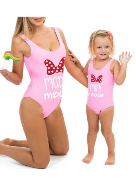 Mom and Me Mouse Swimsuit Unpadded Wholesale