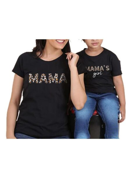 Stylish Mom and Me Mama' s Girl T-shirt 1-6Years, 5-10Years, Cotton Blend, Spandex, High Summer, Wholesale 2