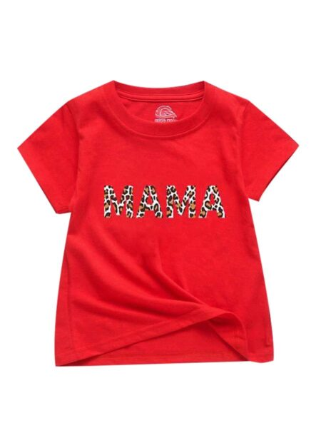 Stylish Mom and Me Mama' s Girl T-shirt 1-6Years, 5-10Years, Cotton Blend, Spandex, High Summer, Wholesale