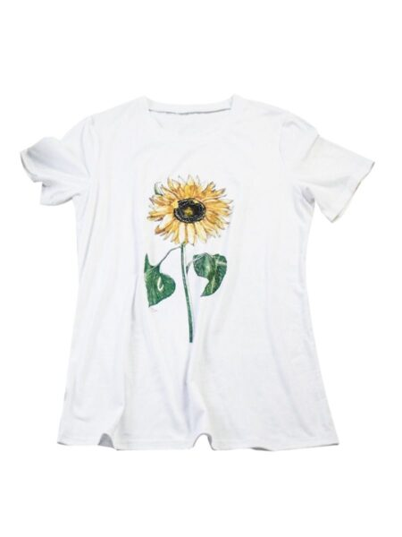 Mommy and Me Sunflower T-shirt 1-9Years, Cotton Blend, Polyester, Spandex, High Summer, Wholesale 2
