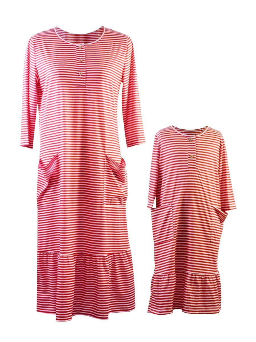 Mommy and Me Casual Ruffle Hem Dress 1-9Years, Polyester, High Summer, Wholesale