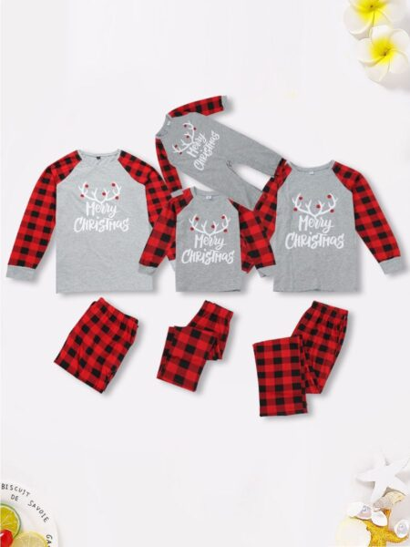 Family Matching Homewear Merry Christmas Plaid Set Wholesale Family Matching FAMILY MATCHING 2021-09-15