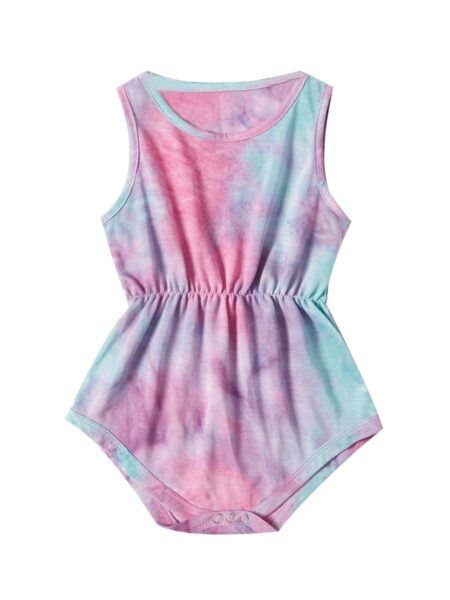 Mommy And Daughter Tie Dye Homewear Cami Romper Wholesale FAMILY MATCHING 2021-09-17