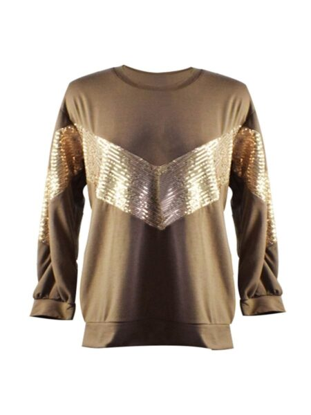 Mother And Daughter Sequins Patchwork T-Shirt Wholesale 2