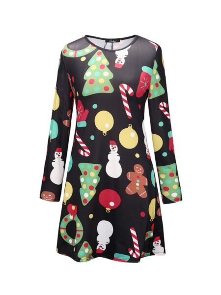 Mommy And Daughter Christmas A-Line Dress Wholesale Family Matching Dresses 2021-09-15