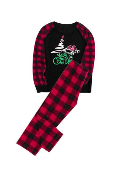 Family Matching Merry Christmas Nightwear Plaid Set Wholesale FAMILY MATCHING 2021-09-14