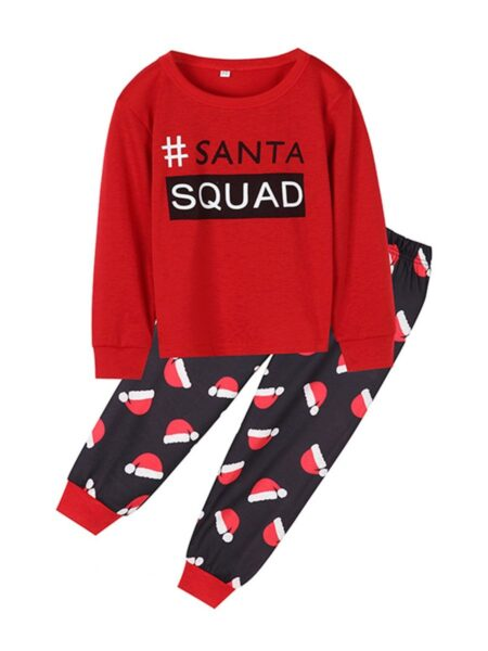 Family Matching Christmas Set Letter Tee & Hat Print Pants Wholesale Christmas FAMILY MATCHING 2021-09-15