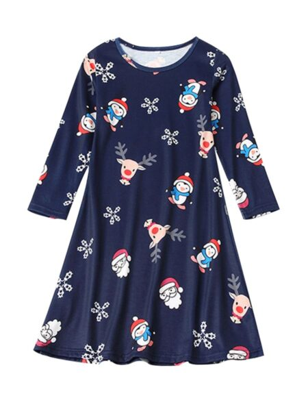 Mother And Daughter Christmas Santa & Snowflake Dress Wholesale Dresses 2021-09-13