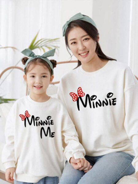 Mom And Daughter Letter Sweatshirt Wholesale Family Matching FAMILY MATCHING 2021-09-11