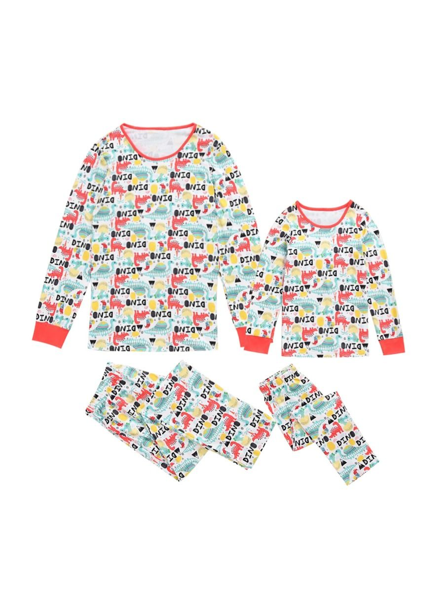 Mommy And Daughter Lovely Print Sleepwear Set Wholesale Family Matching MOMMY & ME 2021-09-11