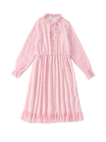 Mommy and Me Solid Color Chiffion Dress Wholesale Family Matching FAMILY MATCHING 2021-09-09
