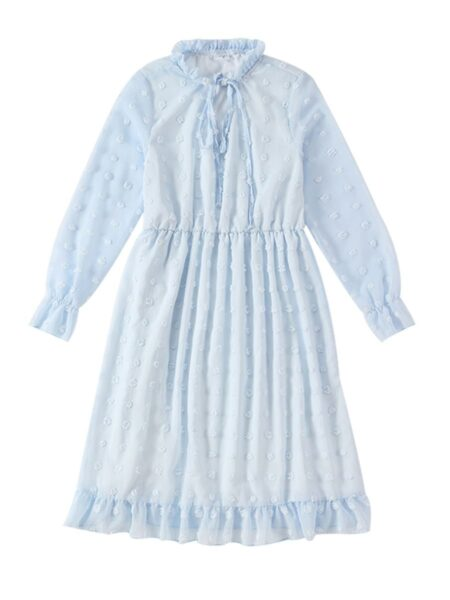 Mommy and Me Solid Color Chiffion Dress Wholesale Family Matching 2