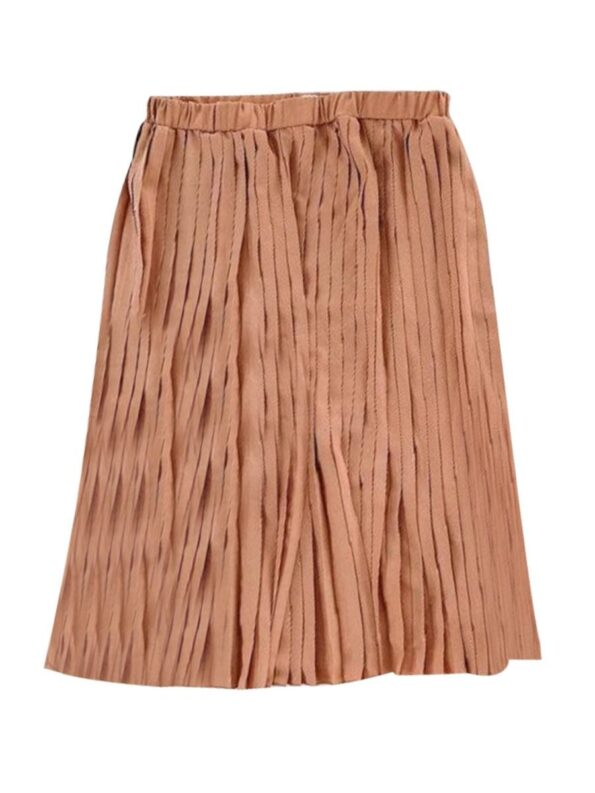 Mommy And Daughter Solid Color Pleated Skirt Wholesale Family Matching 7