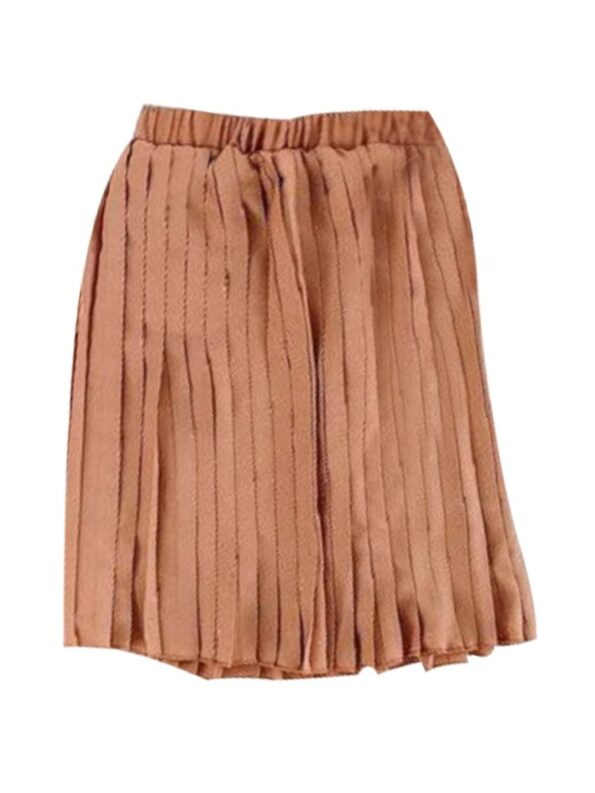 Mommy And Daughter Solid Color Pleated Skirt Wholesale Family Matching 8