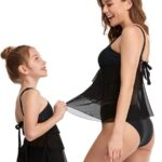 Mother And Daughter Solid Color Two Pieces Swimsuit Wholesale 3
