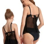 Mother And Daughter Solid Color Two Pieces Swimsuit Wholesale 4