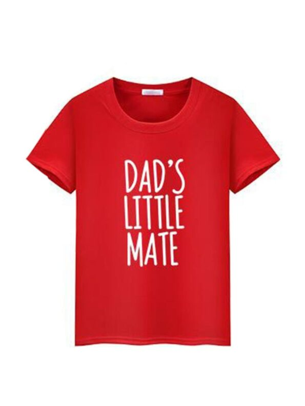 Daddy And Me Letters Tee Wholesale Family Matching 6