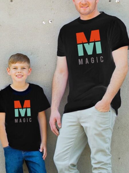 Daddy And Me M Magic Tee Wholesale Family Matching FAMILY MATCHING 2021-09-08