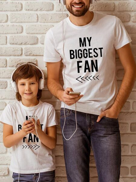 Father And Son My Biggest Fan T-shirt Wholesale FAMILY MATCHING 2021-09-08