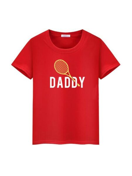 Father And Kid Letter Tennis Racket Print T-shirt Wholesale Family Matching FAMILY MATCHING 2021-09-06