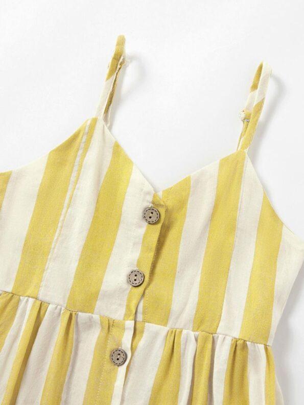 Mom And Me Button Trim Stripe Cami Dress Wholesale 12