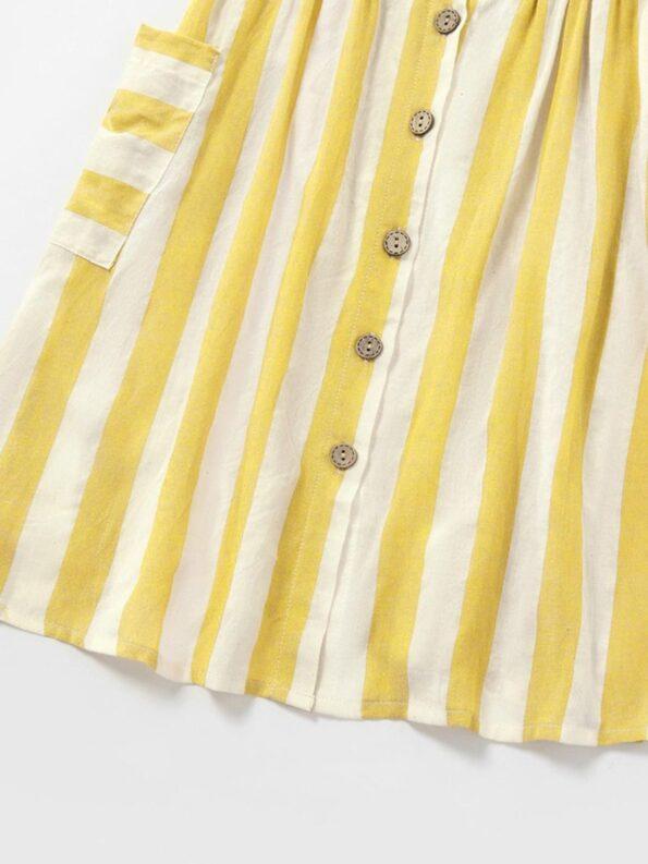 Mom And Me Button Trim Stripe Cami Dress Wholesale 11