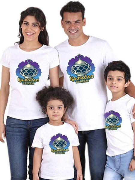 Family Matching Ramadan T-shirt In White Wholesale Family Matching FAMILY MATCHING 2021-09-06