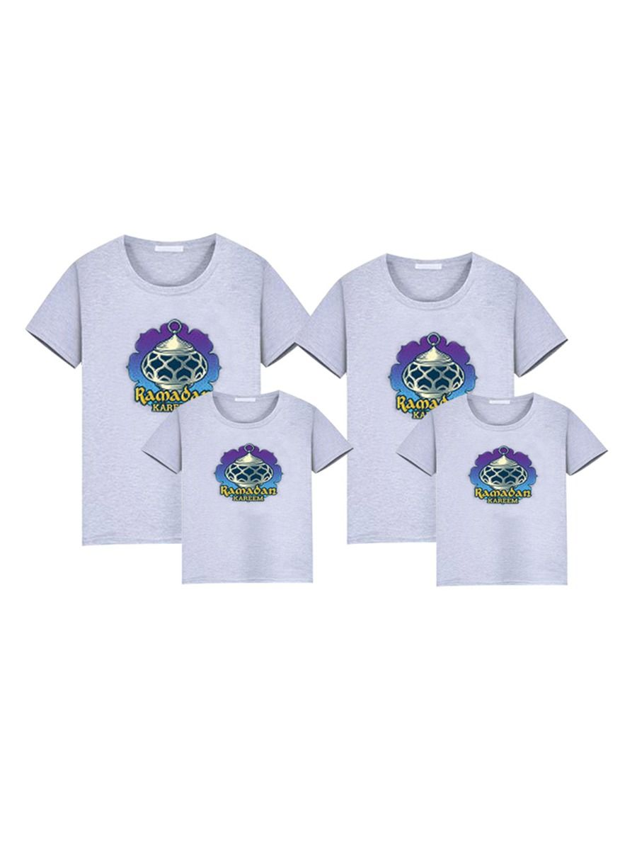 Mom And Me Independence Day Lips Print T-Shirt Wholesale Family Matching FAMILY MATCHING 2021-09-06