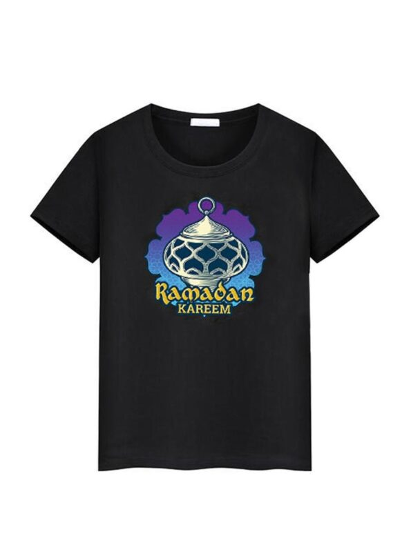 Family Matching Ramadan T-shirt In Black Wholesale Family Matching 8
