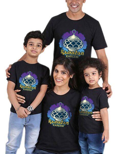 Family Matching Ramadan T-shirt In Black Wholesale Family Matching FAMILY MATCHING 2021-09-06