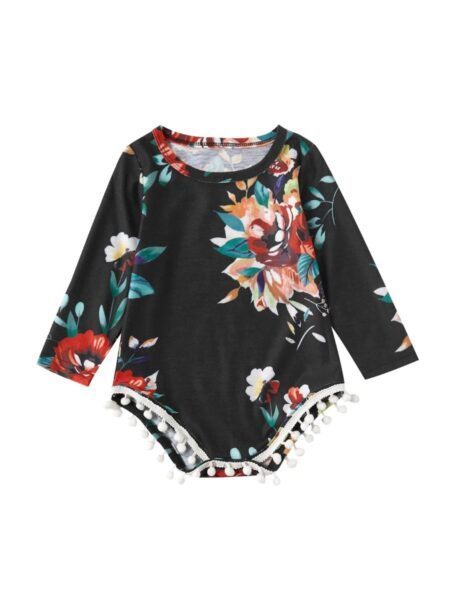 Mother Daughter Matching Clothes Flower Print Dress Bodysuit Wholesale Family Matching FAMILY MATCHING 2021-09-04
